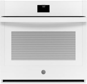 "JTS5000DNWW GE 30"" Electric Built-In Single Wall Oven with True European Convection and Self Clean - White"