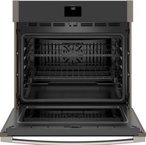 "JTS5000ENES GE 30"" Electric Built-In Single Wall Oven with True European Convection and Self Clean - Slate"