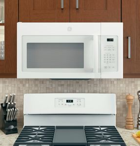 """JVM3162DJWW GE 30"""" 1.6 cu. ft. Over the Range Microwave with Convenience Cooking Controls and Two-Speed 300 CFM Venting System - White"""