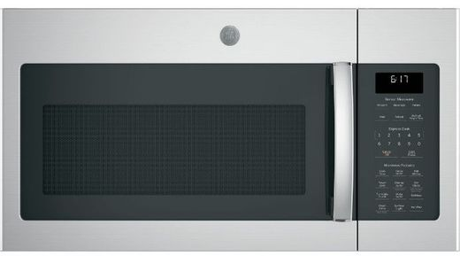 """JVM6175YKFS GE 30"""" 1.7 cu. ft. Over-the-Range Microwave with 1,000 Watts, 300 CFM Ventilation and 10 Power Levels - Fingerprint Resistant Stainless Steel"""