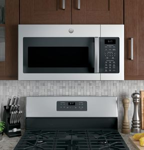 "JVM6175YKFS GE 30"" 1.7 cu. ft. Over-the-Range Microwave with 1,000 Watts, 300 CFM Ventilation and 10 Power Levels - Fingerprint Resistant Stainless Steel"
