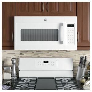 """JVM7195DKWW GE 30"""" Series Over-The-Range Sensor Microwave with 1.9 Cu. Ft. Capacity and Melt Feature - White"""