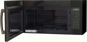 "JVM7195FLDS GE 30"" 1.9 cu. ft. Over-the-Range Sensor Microwave Oven with Easy Clean and 400 CFM - Black Slate"