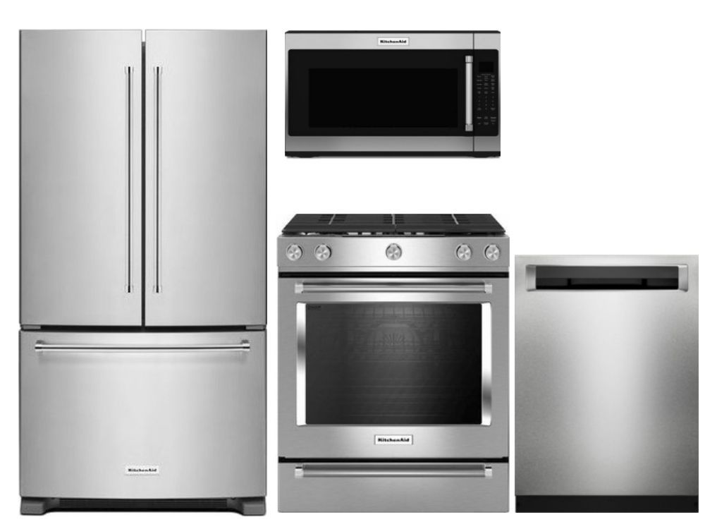 Package K2   KitchenAid Appliance Package   4 Piece Appliance Package With Gas  Range   Stainless Steel Code: 60500 16732 19802 14480 17199 Manufacturer:  ...