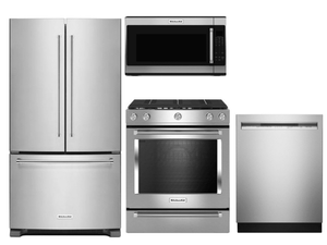 Package K2 - KitchenAid Appliance Package - 4 Piece Appliance Package with Gas Range - Stainless Steel