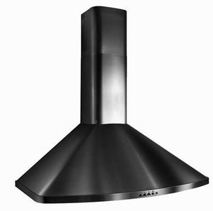 "K313930BL Best 30"" Chimney Wall Mount Hood with 400 CFM and Heat Sentry - Black"
