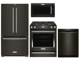 Package KB2 - KitchenAid Appliance Package - 4 Piece Appliance Package with Gas Range - Black Stainless Steel
