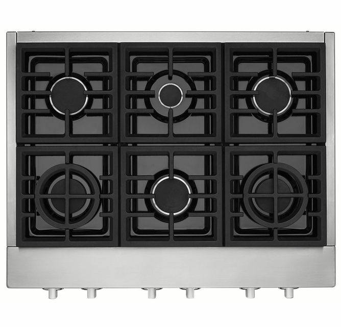 6 Burner Commercial Style Gas Rangetop