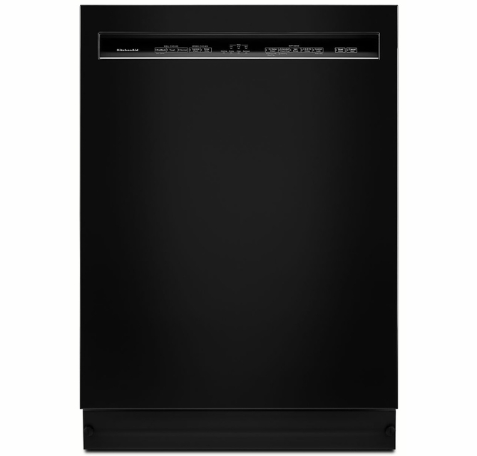 Kdfe104hbl Kitchenaid 24 46 Dba Front Control Built In Undercounter Dishwasher With Powerwash Cycle And Satinglide