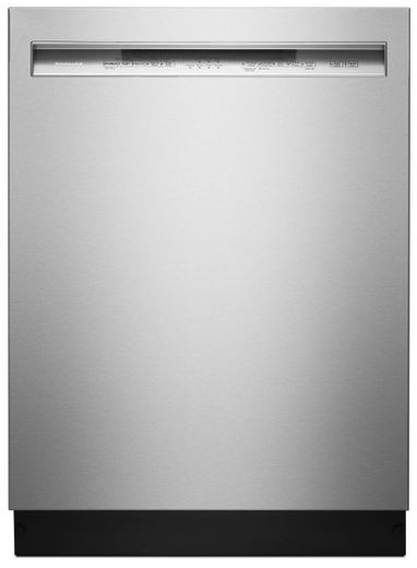 "KDFE104HPS KitchenAid  24"" 46 DBA Front Control Dishwasher with PowerWash Cycle and SatinGlide Max Railes - PrintShield Stainless Steel"
