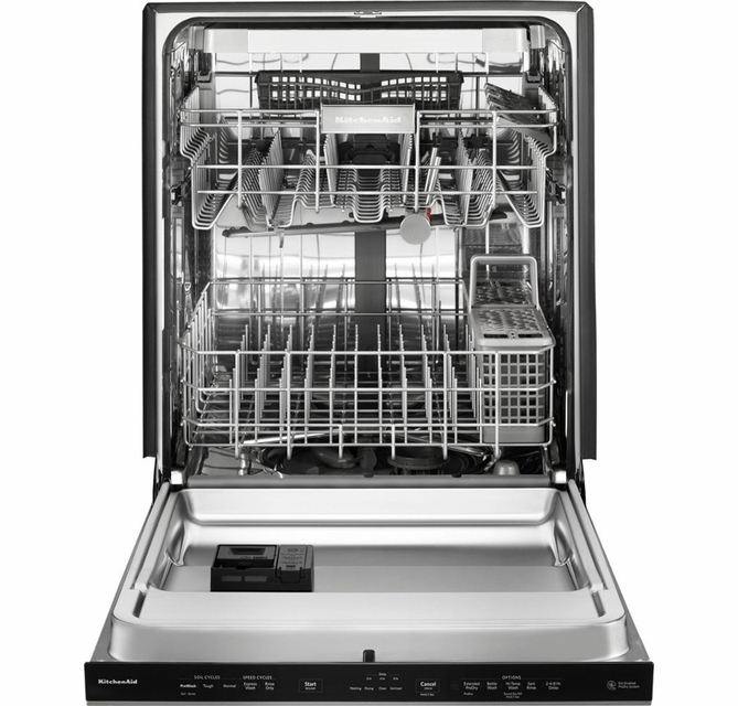 "KDPE234GBS KitchenAid 24"" Built-In Dishwasher with Third Level Rack and  Heat Dry Option - Black Stainless"