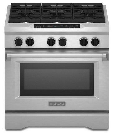Kdrs467vss Kitchenaid 36 6 Burner Commercial Dual Fuel Range With