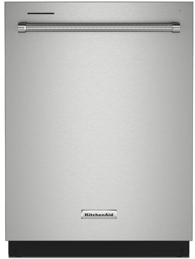 """KDTE204KPS KitchenAid 24"""" 39 dBA Top Control Built In Dishwasher with Third Level Utensil Rack - Stainless Steel"""