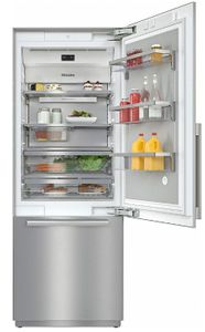 """KF2801SF Miele 30"""" Master Cool Series Built-In Bottom Mount Counter Depth Refrigerator with Icemaker and DynaCool - Right Hinge - Stainless Steel"""