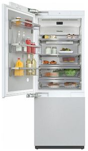 "KF2811VI Miele 30"" Master Cool Series Built-In Bottom Mount Counter Depth Refrigerator with Icemaker and DynaCool - Left Hinge - Custom Panel"