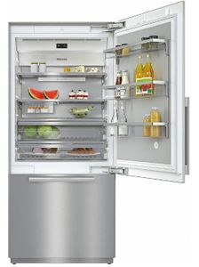 "KF2901SF Miele 36"" Master Cool Series Built-In Bottom Mount Counter Depth Refrigerator with Icemaker and DynaCool - Right Hinge - Stainless Steel"