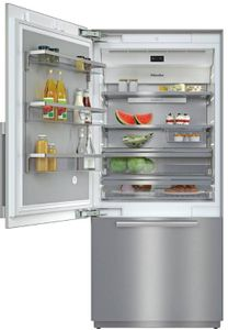 "KF2911SF Miele 36"" Master Cool Series Built-In Bottom Mount Counter Depth Refrigerator with Icemaker and DynaCool - Left Hinge - Stainless Steel"
