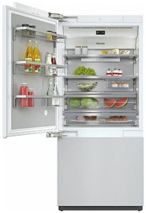 "KF2911VI Miele 36"" Master Cool Series Built-In Bottom Mount Counter Depth Refrigerator with Icemaker and DynaCool - Left Hinge - Custom Panel"