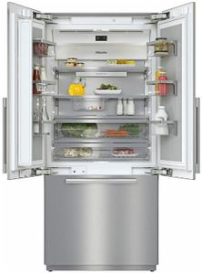 """KF2981SF Miele 36"""" Master Cool Series French Door Counter Depth Refrigerator with Icemaker and DynaCool - Stainless Steel"""