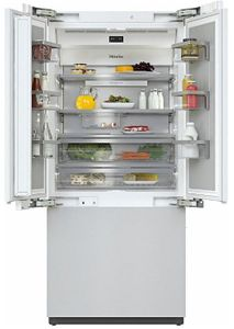 "KF2981VI Miele 36"" Master Cool Series French Door Counter Depth Refrigerator with Icemaker and DynaCool - Custom Panel"