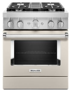 KFDC500JMH KitchenAid 30 Inch Smart Commercial-Style Dual Fuel Range with 4 Burners - Milkshake