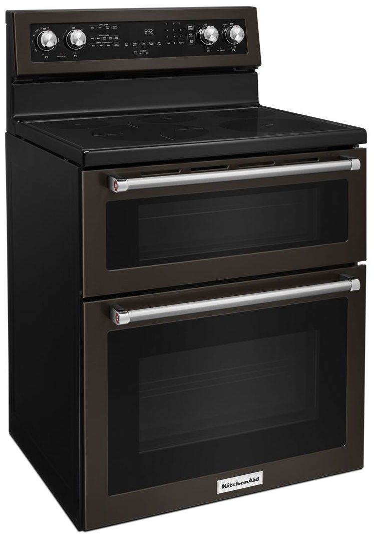 Kfed500ebs Kitchenaid 6 7 Cu Ft 30 Free Standing Double Oven