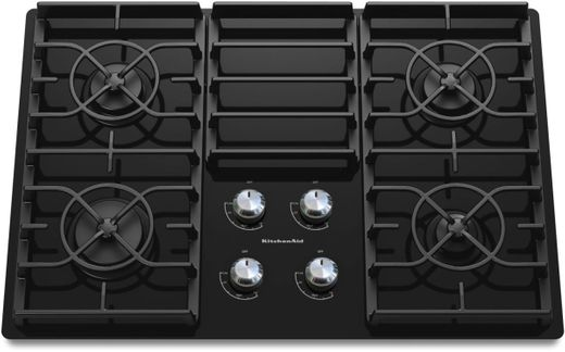 "KGCC506RBL KitchenAid Architect 30"" Gas Ceramic Cooktop - Black"