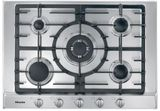 "KM2032G Miele 30"" Built In 5 Burner Gas Cooktop with Sealed Burners and 1 Mono Wok - Natural Gas - Stainless Steel"