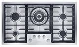 "KM2355G Miele 36"" Flush-Mounted Gas Cooktop - Natural Gas - Stainless Steel -OPEN BOX"