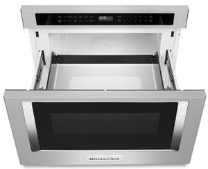 "KMBD104GSS KitchenAid 24"" Undercounter 1.2 cu. ft. Microwave Oven Drawer with Sensor Functions and Keep Warm Function - Stainless Steel"