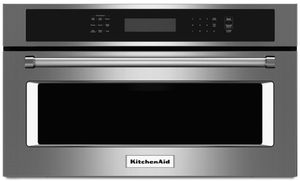 "KMBP100ESS KitchenAid 30"" Built In Microwave Oven with Convection Cooking - Stainless Steel"