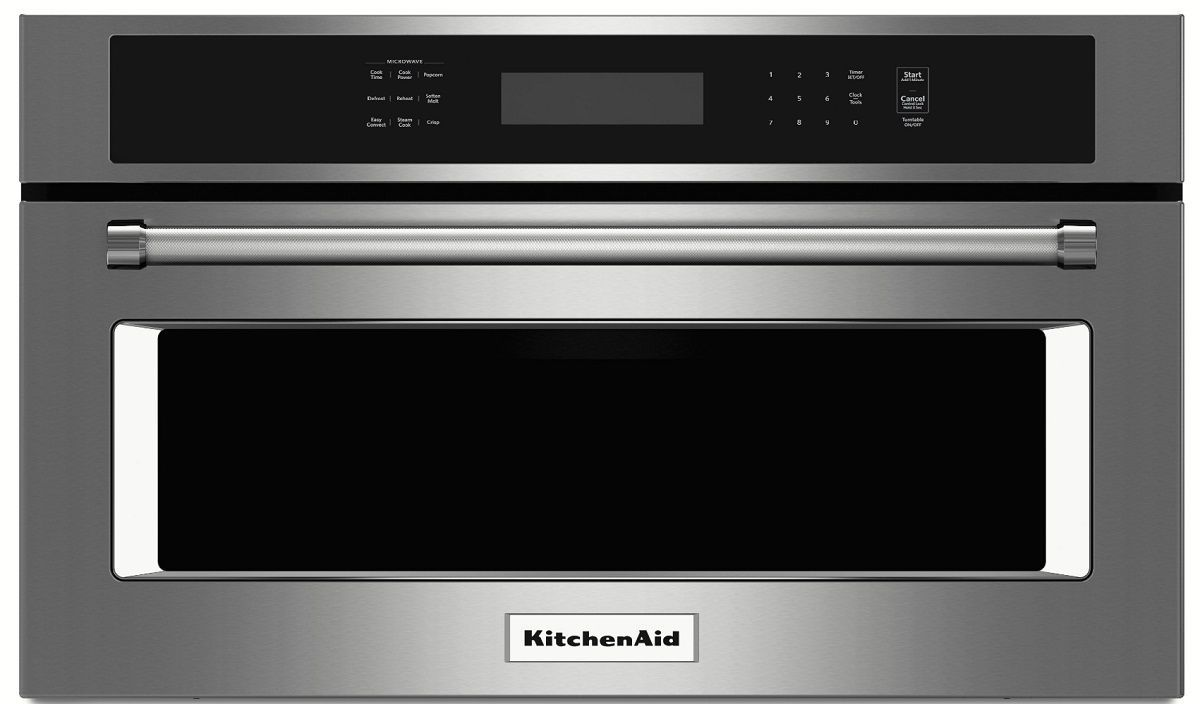 """kmbp100ess kitchenaid 30"""" built in microwave oven with"""