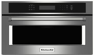 """KMBP100ESS KitchenAid 30"""" Built In Microwave Oven with Convection Cooking - Stainless Steel"""