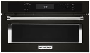 "KMBP107EBS KitchenAid 27"" Built In Microwave Oven with Convection Cooking - Black Stainless Steel"