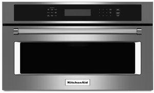 "KMBP107ESS KitchenAid 27"" Built In Microwave Oven with Convection Cooking - Stainless Steel"
