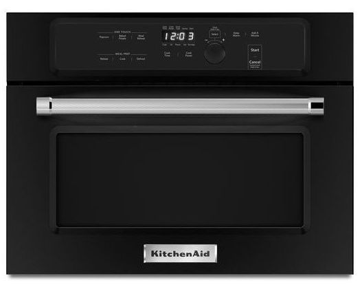 """kmbs104ebl kitchenaid 24"""" built in microwave oven with"""
