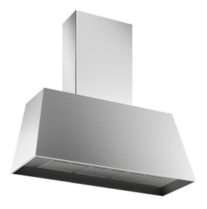 """KMC36X Bertazzoni 36"""" Contemporary Canopy Wall Mount Hood - 600 CFM - Stainless Steel"""