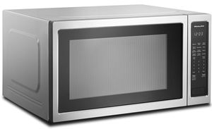 """KMCS3022GSS KitchenAid 24"""" 2.2 Cu Ft Countertop Microwave Oven with Timed Defrost and 9 Quick-Touch Cycles - Print Shield Stainless Steel"""