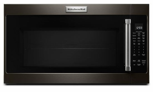 """KMHS120EBS KitchenAid 2.0 Cu. Ft. 1000w Over the Range 30"""" Microwave with 7 Sensor Functions and Cookshiled Finish - Black Stainless Steel"""