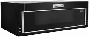 "KMLS311HBL KitchenAid 30"" Low Profile Over the Range 1000 Watt Low Profile Microwave Hood Combination with 500 CFM and Whisper Quiet Ventilation System - Black"