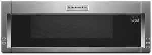 "KMLS311HSS KitchenAid 30"" Low Profile Over the Range 1000 Watt Low Profile Microwave Hood Combination with 500 CFM and Whisper Quiet Ventilation System - Stainless Steel"