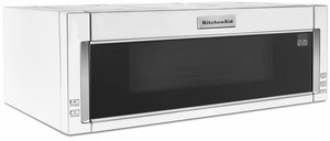 """KMLS311HWH KitchenAid 30"""" Low Profile Over the Range 1000 Watt Low Profile Microwave Hood Combination with 500 CFM and Whisper Quiet Ventilation System - White"""
