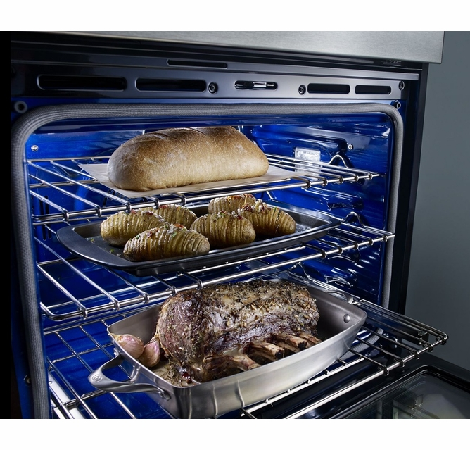 Koce500ess Kitchenaid 30 Even Heat True Convection Combination Wall Oven With Built In Microwave And Satinglide