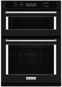 """KOCE507EBL KitchenAid 27"""" Combination Wall Oven with Even-Heat True Convection (lower oven) - Black"""