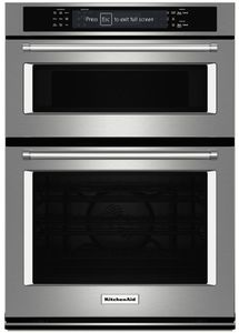 "KOCE507ESS KitchenAid 27"" Combination Wall Oven with Even-Heat True Convection (lower oven) - Stainless Steel"