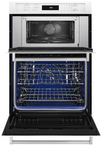 """KOCE507EWH KitchenAid 27"""" Combination Wall Oven with Even-Heat True Convection (lower oven) - White"""