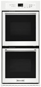"""KODC304EWH KitchenAid 24"""" Double Wall Oven with True Convection - White"""