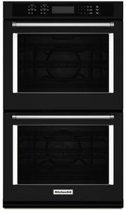 """KODE500EBL KitchenAid 30"""" Double Wall Oven with Even-Heat True Convection - Black"""