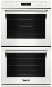 "KODE500EWH KitchenAid 30"" Double Wall Oven with Even-Heat True Convection - White"