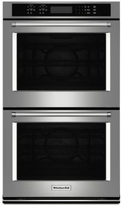 """KODE507ESS KitchenAid 27"""" Double Wall Oven with Even-Heat True Convection - Stainless Steel"""